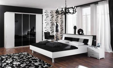 black white bedroom decorating ideas pics photos decorating black and white